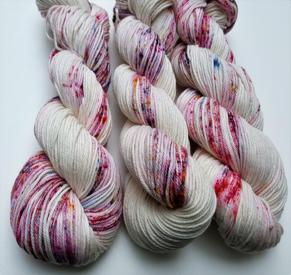 Tutti Fruity- 100 Cotton, Hand Dyed, Variegated, Speckled, Hand Painted Yarn