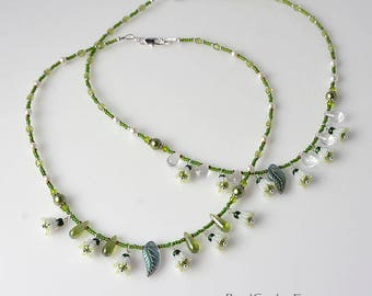 Lily of the valley spring necklace