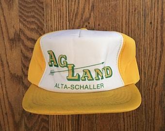 Vintage Agland Agricultural Land Farming Trucker Hat Snapback Baseball Cap