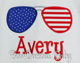 Personalized 4th of July T-Shirt, Boys 4th of July, Aviators T-shirt, Baby Boy July 4th Tshirt, T-shirt July 4th Boys, Custom
