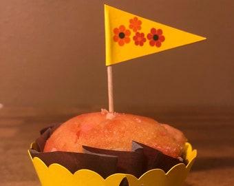 Cupcake topper flower #1