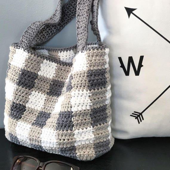 Häkeln Häkelanleitung Aislinn Plaid-Tasche Tasche einfach
