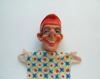 Hand puppet - Petrushka - era 80x - Rubber toy.