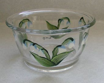 Handpainted Lily of the Valley Round Dish
