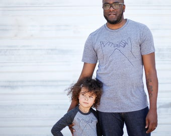 Pinky Promise Matching Shirts, Dad and Baby Father's Day Gift, Dad and Kids Gift, Father Son Pinky Swear Tshirts, Dad Daughter Shirts