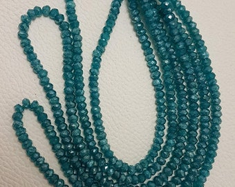 """Blue Apatite Faceted Beads ,blue Apatite beads,AAA quality blue Apatite Faceted Beads,blue Apatite Faceted Rondelles beads 4.5mm 16"""" strand"""