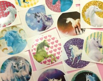 Cute UNICORN Stickers Set