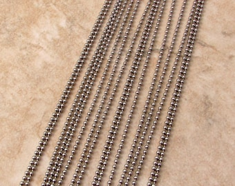 Fine Ball Chain, Solid Stainless Steel, 1.5 mm, 6 Ft. SS19