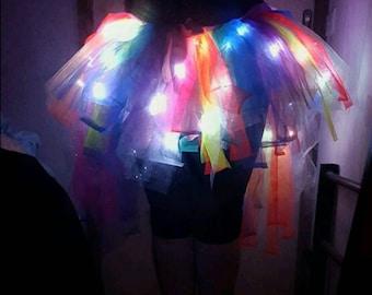 Adults Rainbow LED Tutu