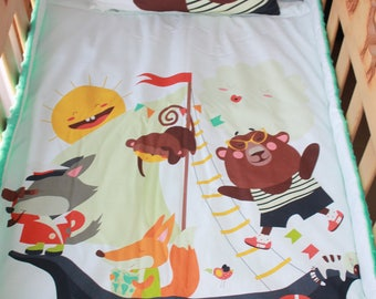 Noah's Ark pattern bedding set