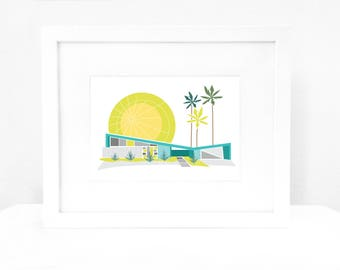 Palm Springs Mid Century Modern House William Krisel Art Print