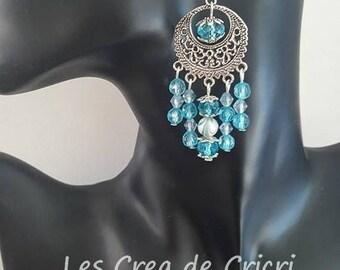 """Pendant turquoise"" earrings"