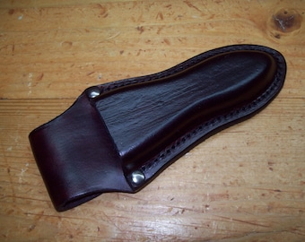 Custom Wet-Formed Leather Pliers Holster with Belt Loop