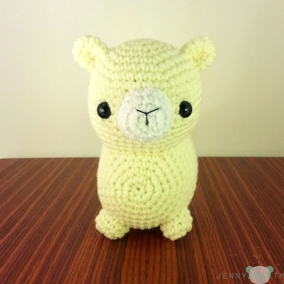 Pattern Midi Chubby Alpaca Amigurumi Plush Instant Download From