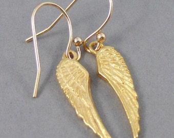 Royal Golden Wings,Earrings,Gold Earrings,Gold,Gold Filled,Wing,Angel Wing,Angel Wing Earrings,Gold Wing,Gold Earring,SeaMaidenJewelry
