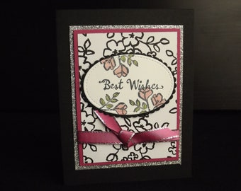 Best wishes, Meant to be together handmade card