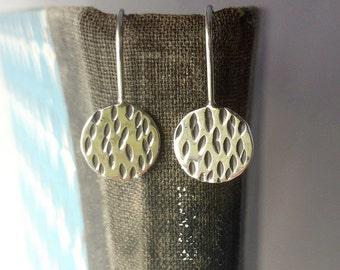 Silver Makers Mark Earrings