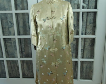 1950's Gold Silk Chinese Bed Jacket