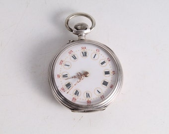 Vintage Old French Made Hand Winding Pocket Watch.