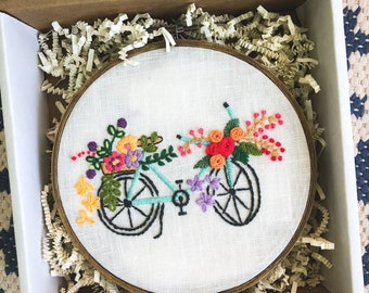 Bicycle + Flowers Embroidery Kit