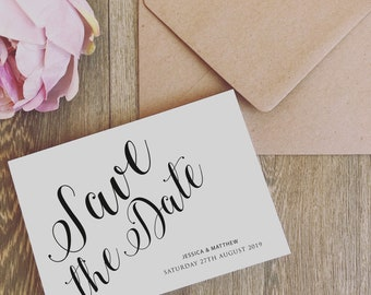 10 x Personalised Wedding Save the Date Cards Save the Dates with Envelopes