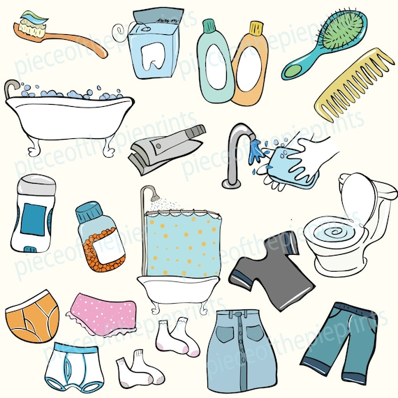 instant download clipart chores hand drawn clipart chore rh etsy com Chores Clip Art Chores Clip Art