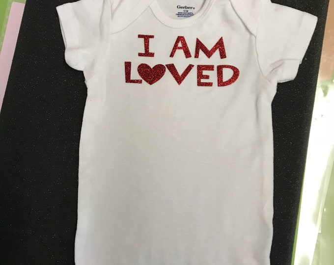 I AM LOVED Baby Onesie-free shipping