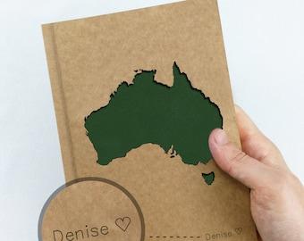 AUSTRALIA Map Notebook, Sydney Melbourne Map, Travel Journal, Custom Journal, Personalized Notebook Journal, Custom Notebook, Custom Diary