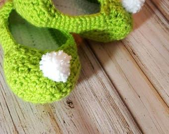 Crocheted Fairy Slippers