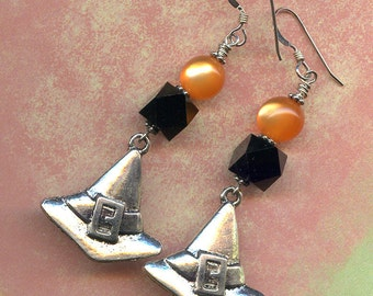 Witchie Hats Sterling Silver Earrings