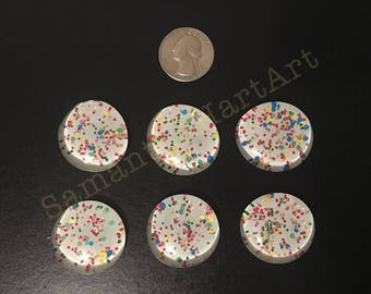 Large confetti magnets - white