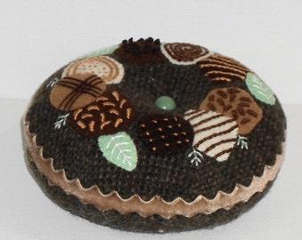 Handmade Felted Wool Chocolates Pincushion
