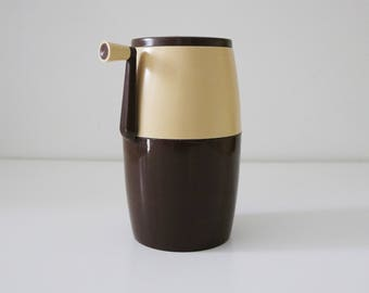 Italian Lillo ice crusher 1970s brown and cream plastic by PPL