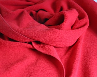 Vintage Red polyester winter scarf, rectangular scarf, Christmas scarf, gifts for her, gifts for him, gifts for mom