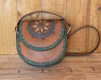Handmade Leather Bag, Bohemian bag, Hippie leather bags, Leather carving bag, Shoulder bag, Leather handmade messenger bag (satchel)