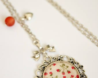LOVE HEARTS RED - CO019 BUBBLES NECKLACE
