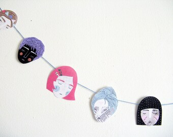 Girls Garland - printable pdf project