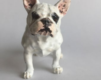 Custom French Bulldog Sculpture | 3D Printed & Hand-painted | Pet Portrait Dog Frenchie Statue Figurine Memorial | Frenchie Collectibles