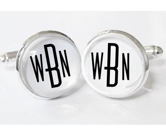 Monogrammed Cufflinks - personalized mens cufflinks - mens gifts - cuff links - weddings-  mens monogrammed - personalized monogram