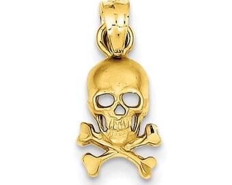Skull And Cross Bones Pendant (K3163)