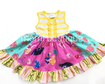 Disney Princess dress Disney on Ice Sleeping Beauty Beauty, Aurora, Briar Rose Momi boutique