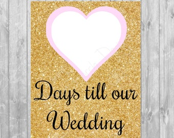 Wedding Count Down Poster/Picture - Digital Copy 8x10