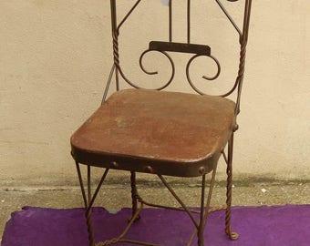 Child room original Metal Chair H = 61 L = 27 P = 25 cm Tha-daga India