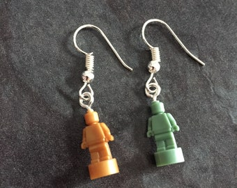 LEGO© Statuette Earrings on Silver Hooks