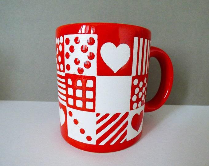 Waechtersbach Mug heart pattern design Vintage
