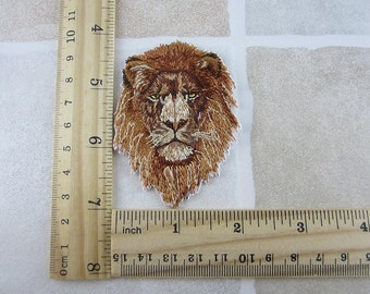 Lion Patch - Animal Embroidered Iron On Patches