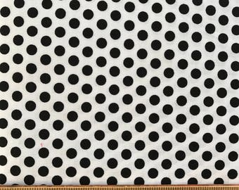 Windham Fabrics - Fleur Noir by Rosemary Lavin - Black and White Polka Dots