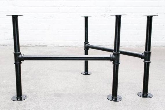 Black Pipe Table Frame/Table Legs DIY Parts Kit 2