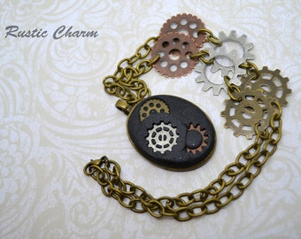 Steampunk Style Pendant Necklace