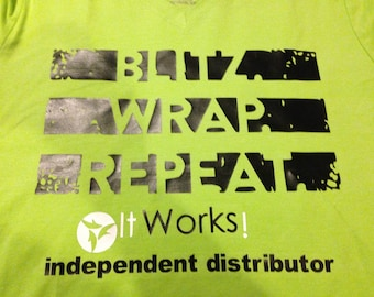 Limited time only! Lime green itworks tee